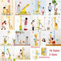 Huge Giraffe Monkey Tree Height Measurement Chart Kids Wall Stickers Decal Art