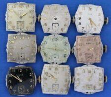 Vintage Elgin Mens Wrist watch Movements Lot- 554 15J / Parts repair