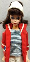 Ponytail Barbie Doll Reproduction wearing 1959 Resort Set #963 VTG Clothes Stand