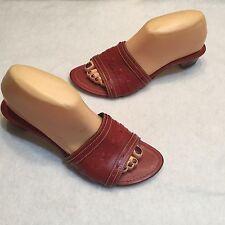 Cole Haan Resort Slide Sandal Red Leather 8 B