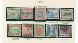 A fantastic mint Niue 1950 group of issues