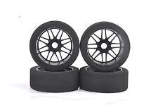 4PCS Ultralight Sponge Tires&Nylon Wheel Rim 17mm Hex For HPI RC 1/8 Racing Car