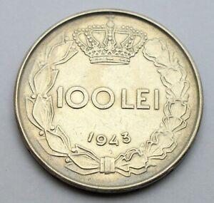 ROMANIA 100 LEI 1943 OLD COIN
