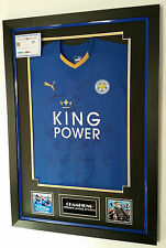 ** CHAMPIONS Leicester Signed Shirt with AFTAL DEALER COA ***