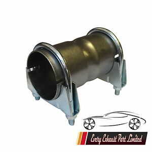 """Exhaust Pipe Connector Sleeve Joiner 2 3/8"""" 60mm Clamp On Including Clamps"""