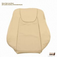 2010 2011 Lexus RX350 Driver Lean Back Replacement Cover Perforated Leather TAN