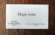 PARFUM LANCÔME MAGIE NOIRE CARTE NON PARFUMÉE SEMI ANCIENNE ANNÉES 80 COLLECTION