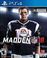 Madden NFL 18 (PlayStation 4 PS4) - DISC ONLY