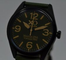 New Mens XO RETRO P-51 Mustang Vintage WWII Actual Military DNA Green Watch