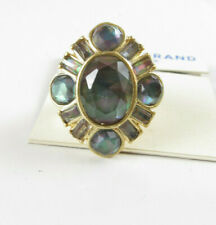 Lucky Brand Gold-Tone Black Mother-of-Pearl Stone Statement Ring 7
