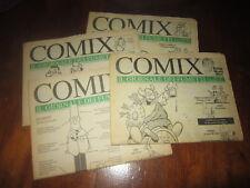 COMIX IL GIORNALE DEI FUMETTI N°1-2-3-4 ANNO 1992 WOODY ALLEN ANDY CAPP SNOOPY