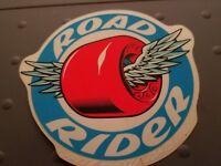 vintage NOS skateboard sticker santa cruz road rider wheel fluoresent pink wheel