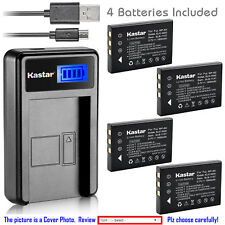 Kastar Battery LCD Charger for Kodak KLIC-5000 & Kodak EasyShare Z760 Camera