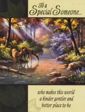 Scarce Leanin' Tree greeting card, Serenity in the Forest, pretty birthday