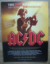 ACDC REMASTERS - AC/DC - ORIGINAL ADVERT POSTER 30 X 22 CM - HEAVY ROCK