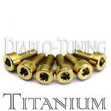 Gold Anodized TITANIUM - Saddle Intonation Screws Set (6) For Floyd Rose Tremolo