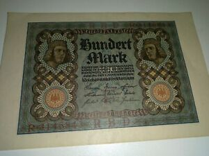 Free Shipping***GERMANY BANKNOTE 1920 REICHSBANKNOTES 100 MARKS.