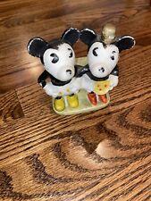 Vintage Bisque Mickey Mouse Tooth Brush Holder Walt Disney Japan Marked