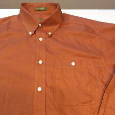 Orvis OrangISH RedISH Rusty LS Button Houndstooth Print Cotton Shirt Men's M