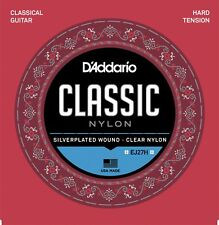 3 Sets D'Addario EJ27H Classical Guitar Nylon String Hard Tension 3-Pack
