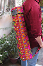 Embroidered Yoga Mat Bag Indian Handmade Gym Bags With Adjustable Strap Throw
