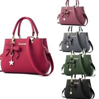 Women Leather Handbags Shoulder Messenger Satchel Purse Tote Lady Crossbody Bags