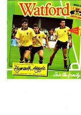 Watford FC Home Programmes season 1988/89 choose your match