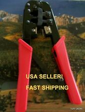 RJ45 RJ11 RATCHET CRIMPER, STRIPPER, CUTTER TOOL Tuff Jacks Quality! USA Seller!