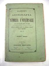 Elementi di Geografia e di Storia Universale Guglielmo Putz 1875 Libro Antico