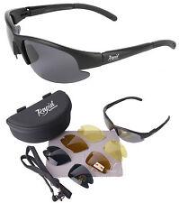 Gafas de sol de hombre negras de plástico, de 100% UVA & UVB