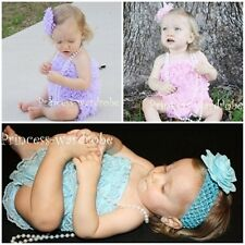 "Lot 3 Baby Petti Ruffles Lace Rompers 2-3Y ""You Pick"""