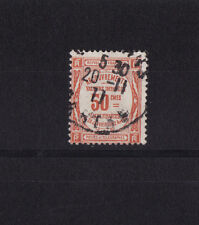 timbre France TAXE    50c    rouge     num: 47   oblitéré