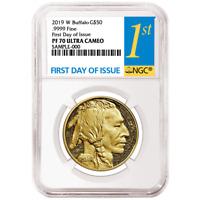 2019-W Proof $50 American Gold Buffalo NGC PF70UC FDI First Label
