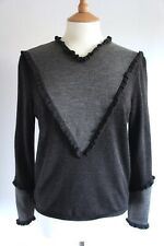 Vintage VALENTINO frill wool jumper