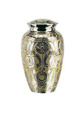 All Brass Cremation Urn w. Velvet Box, Infant/Pet Size