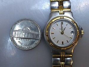 "Bulova Women's Gold & Silver Tone Stainless Wristwatch Quartz 7.5"""