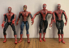 """Spider-Man Super Poseable Movie Marvel Action Figure 6"""" 2002 COLLECTORS LOT"""