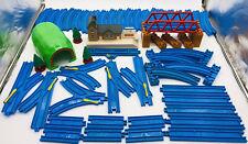 60pc Lot Maithwaite Station Switch Train Tracks Thomas Track Master TOMY Blue