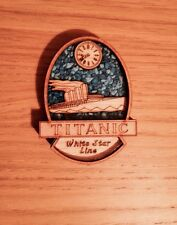 Wooden Fridge Magnet Titanic lasaer cut 3mm Oak Veneer Mdf Gift 90x70x12 Mm