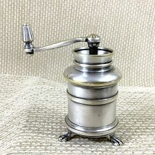 More details for christofle silver plated antique pepper mill grinder hand crank 19th century