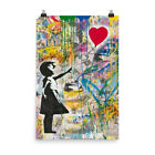 Mr Brainwash Picture Print Balloon Girl Modern Pop Art Poster For Wall Decor