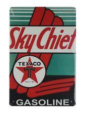 indoor wall hangings Sky Chief Texaco gasoline tin metal sign