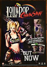 Lollipop Chainsaw PS3 XBOX 360 VIDEOGIOCO UFFICIALE RARO PROMO POSTER 43x60cm #2