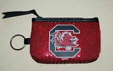 Brand New, OFFICIAL South Carolina GAMECOCKS zippered coin purse FREE SHIPPING !