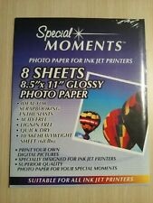 Glossy Special Moments Photo Paper For All Ink Jet Printers 8 Sheets 8.5x11 NEW