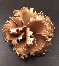 LISNER Gold Tone 3D Flower Brooch Pin Antique Unique Vintage Stunning