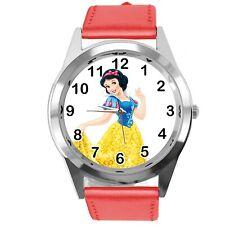 Princess Snow White Disney FILM MOVIE FAIRY TALE CD DVD TV RED LEATHER WATCH
