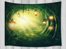 Magical Forest And Lanterns Tapestry Wall Hanging Bedspread Throw Dorm Decor