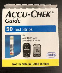 ***L@@K*** Accu Chek Guide Diabetic Test Strips 50 Count  Open Box
