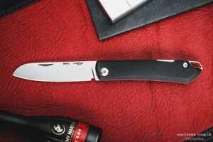 Customs Russisches Taschenmesser Bro G10 Schwarz-Rot satiniert